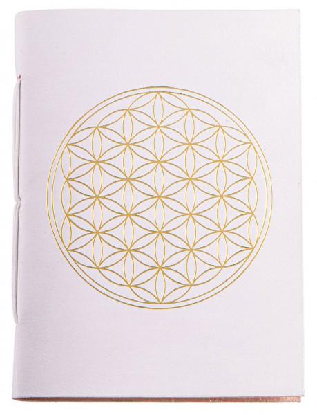 Schreibbuch Lebensblume weiß/gold 144 Seiten