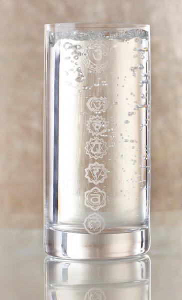 Chakra-Energie-Wasserglass