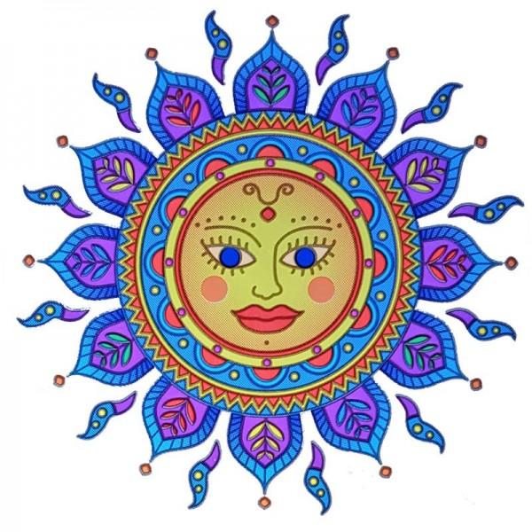 Fensterbild Goldene Sonne