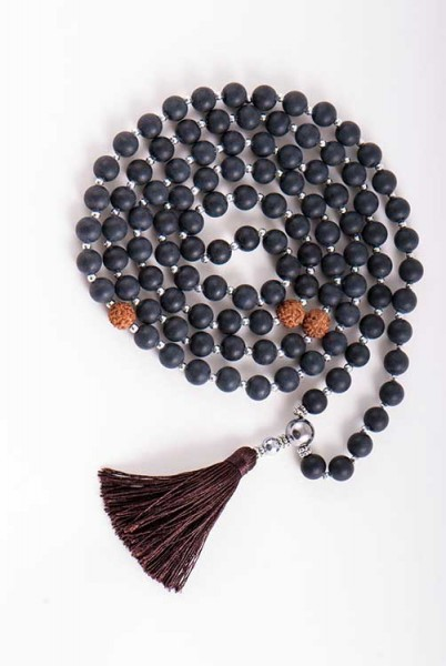 Obsidian Mala der Erkenntnis