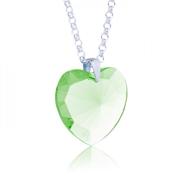 Elohim Kristall Herz Grün von Lichtwesen