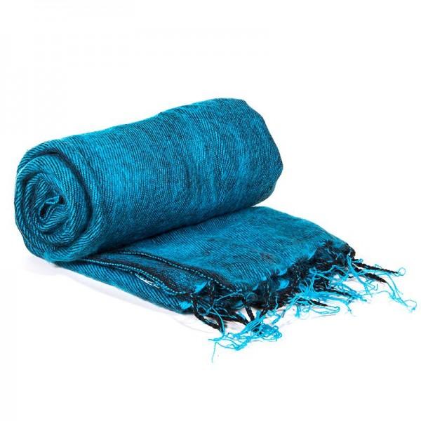 Schal für die Meditation Türkisblau