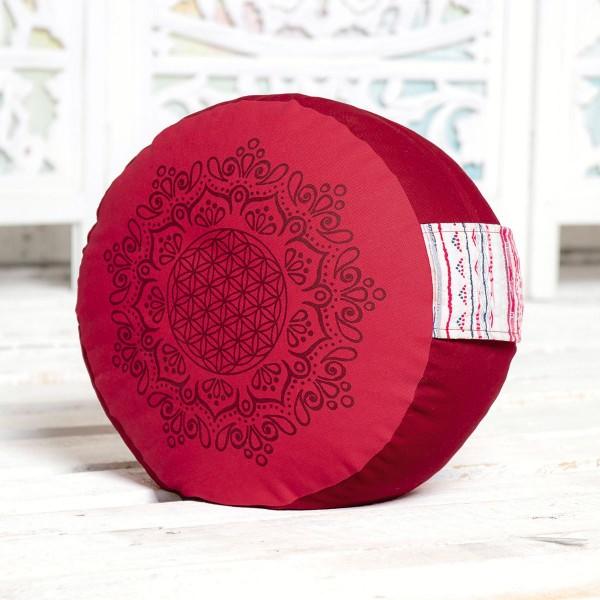 Meditationskissen hibiskus / rot von Spirit of Om