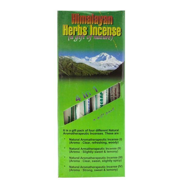 Himalayan Herb Incense Set - 4 Rollen mit Halter