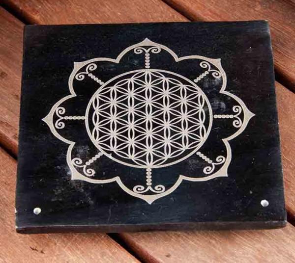 Blume des Lebens - im Lotus - Räucherstäbchenhalter