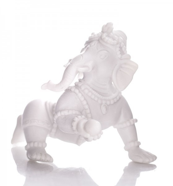 Spielender Ganesha - Alabaster