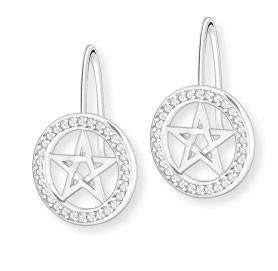 """Ohrhänger """"Pentagramm"""" - mit Zirkonia"""