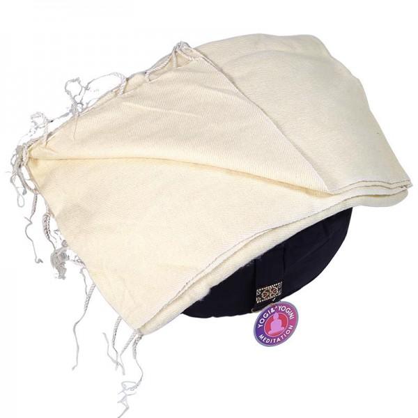Schal für die Meditation Gelb