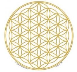 """Fensterbild """"Blume des Lebens"""" gold"""