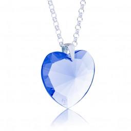 Elohim Kristall-Herz Blauer Strahl