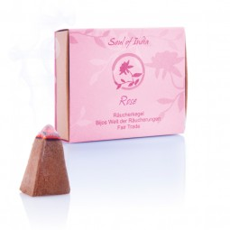 Räucherkegel Rose - Soul of India - FAIR TRADE
