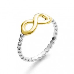"""Ring """"Liegende Acht"""" vergoldet"""