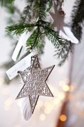 """Weihnachtsstern """"Glücksstern mit Feder"""""""